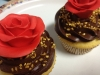 cupcakes chocolate flor