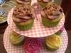 cupcakes variadas: limón, fresa y nutella