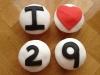 Cupcakes 29 cumpleaños